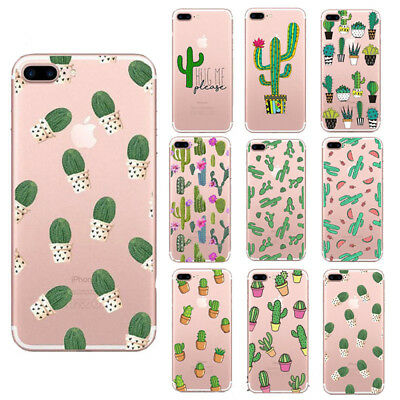 New Cactus Clear Soft TPU Plants Phone Case Cover For iPhone 5 5s 6 6s 7 8 Plus