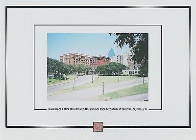 TEXAS SCHOOL BOOK DEPOSITORY JFK assassination Dealey Plaza brick shavings re;ic