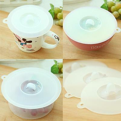 Home Sealing Functional Clear Kitchen Cover Wrapping Silicone Cup Lid