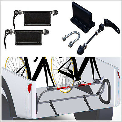 2pcs Bicycle Quick Release Fork Mounts For Pickup Truck Bed Mount Rack Carrier