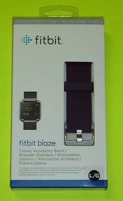 Fitbit Official Replacement Classic Band (Plum , Large) for Fitbit Blaze