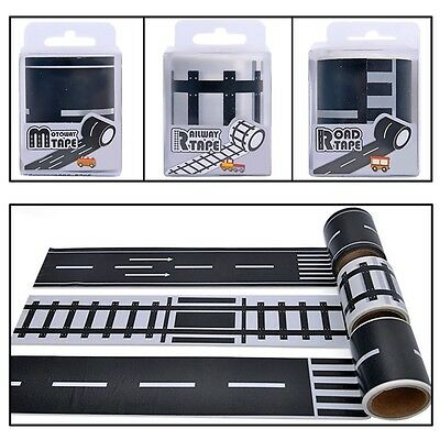 Kids Road Play Tape for Toy Car Adhesive Roll Floor Room Wall Sticker Gift 5m