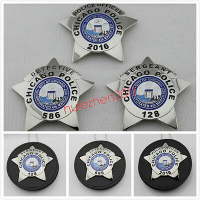 Silver Metal Bust Badge Insignia Brooch Uniform Cosplay Collection US CHICAGO