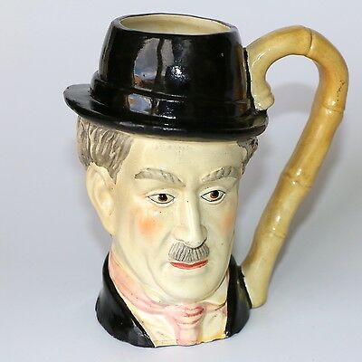 Vintage Ceramic Charlie Chaplin Character Mug Bamboo Cane Effect Hand Painted