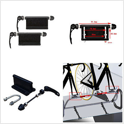 2 x Alloy Black Bicycle Block Quick Release Fork Mount Carrier Holder Pickup Bed