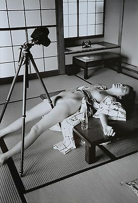 Nobuyoshi Araki Limited Edition XXL Photo Print 34x50cm Nude Woman & Tripod Art