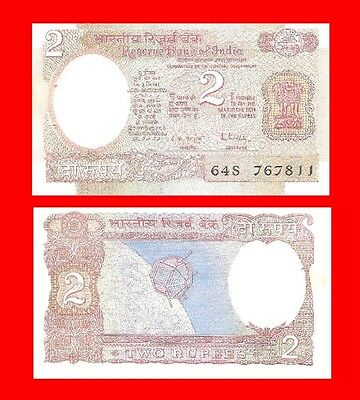 INDIA #05 p79h - 2 rupee 1976 Malhotra -letter A- Uncirculated