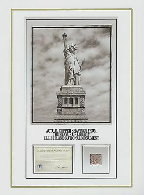 STATUE OF LIBERTY Freedom Lady Liberty COPPER SHAVINGS, NYC relic