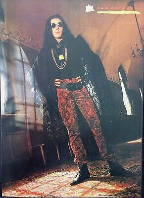 IAN ASTBURY / THE CULT - ORIGINAL 1 PAGE POSTER FROM 1980s No1 MAGAZINE