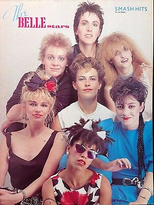 THE BELLE STARS / THE GO GO'S - 1 PAGE POSTER FROM 1980s SMASH HITS MAGAZINE