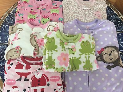 Lot of Six 18 Months Fleece Carter's Sleepers Footy Pajamas, $6 Each