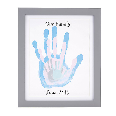 Pearhead DIY Family Handprint Kit, Gray New!