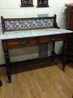 Antique 19th Century Mahogany with Marble Top Washstand