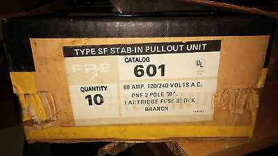 Federal Pacific 601 Nib Type Sf 60A 120/240V 2P Pullout Fuse Block See Pics #a94