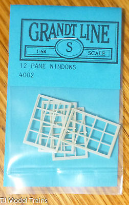 Grandt Line S #4002 (S Scale)Double-Hung Windows -- 12-Pane, 36 x 56""