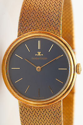 MINTY Vintage 1950s $12K LeCoultre 18k Yellow Gold Midsize Mens Ladies Watch 56g