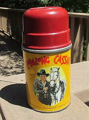 1950's Hopalong  Cassidy  Thermos  w/ red cup aladdin