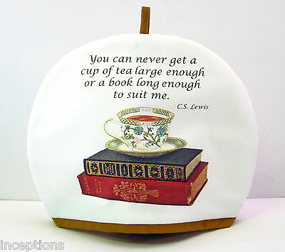 Alice's Cottage Cotton Tea Cozy Cup of Tea and Books - NEW