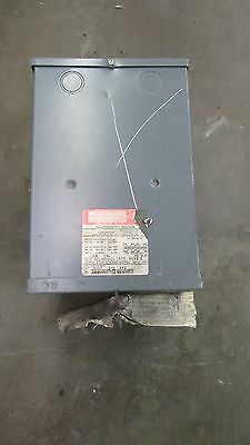 Square D 3S1F 3Kva Dry Type Transformer Hi 240/480V Lo 120/240V 1Ph Single Phase