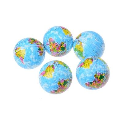 World Map Foam Rubber Ball For Baby Stress Bouncy Ball Geography Toy EC
