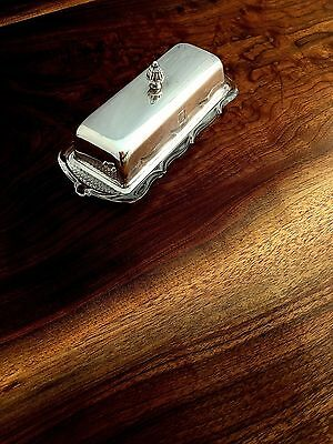 Black, Starr & Gorham Sterling Silver & Heisey Glass Butter Dish Monogram D