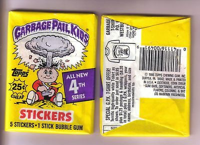 1986 Garbage Pail Kids Original Series 4 Wax Pack (x1) from Box!