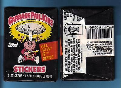 1986 Garbage Pail Kids Original Series 5 Wax Pack (x1) from Box!