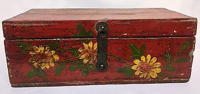 Antique Chinese Hand Painted Treasure Box