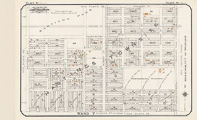 1912 Vancouver Canada Hastings Townsite Jail Pandora St To Charles St Atlas Map