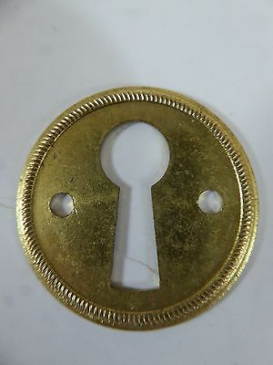 Vintage / Antique * Brass  *  Thin Round Key Hole Cover * Escutcheons