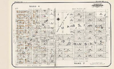 1912 Charles E. Goad, Vancouver, Canada, Lord Nelson School, Copy Plat Atlas Map