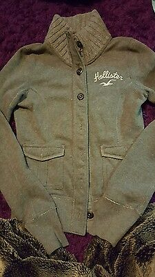 womens grey Hollister cardi ,size s. great cond