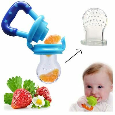 3 Pcs Device Food Silicone Baby Teether Feeder Nipple Pacifier