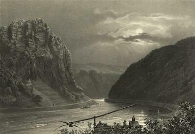St. GOARSHAUSEN - Loreley - Lithografie 1837