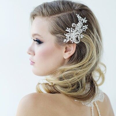 Sass B collection Clarice freshwater pearl comb Bridal hair piece accessories