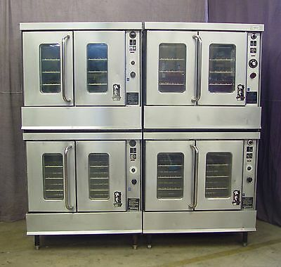 Montague 2-115 Series Full Size Double Stack Gas Convection Ovens Both 4-1 Money