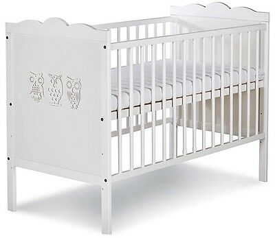 Wooden Baby Cot Bed White 120x60