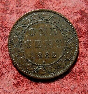 1882 H CANADA LARGE 1 ONE CENT penny copper coin