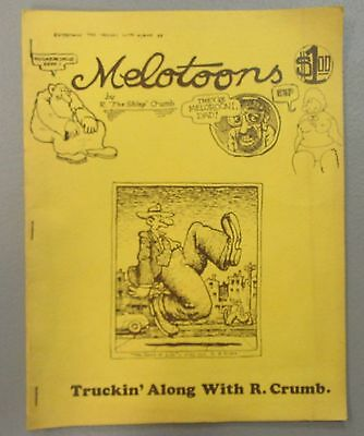 Melotoons Truckin' Along With R. Crumb 1972 Underground Comics