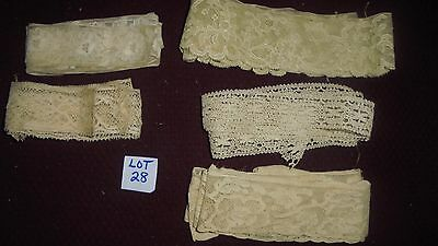 Antique Lace French Doll Dress Scrapbook Trim LOT 28