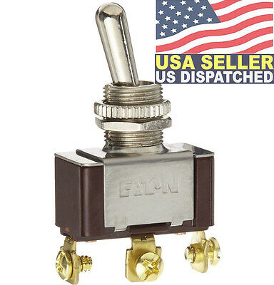 Eaton XTD2B2A Toggle Switch, Screw Termination, On-Off-On Action, SPDT Contacts,