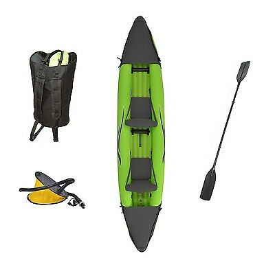 Outdoor Tuff Stinger 4 OTF-4252PK Inflatable Two-Person Sport Kayak with Rota...