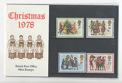 1978 - CHRISTMAS - PRESENTATION PACK No 104 - OF MINT STAMPS