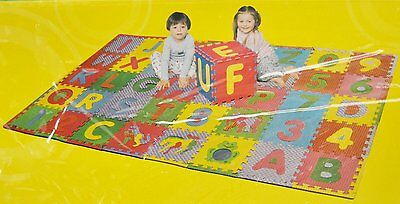 Alphabet, Numbers & Animals Playmat - Covers 40 sq ft