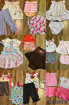 Lot 28 Pc Sz 3  3/6 Months Baby Girl Spring Summer Clothes
