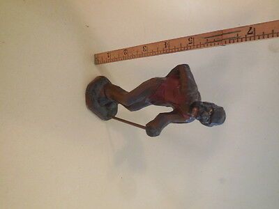 primitive hand carved, black americana, old black man