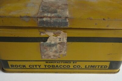 Vintage Rock City Tobacco Tin King George's Navy Quebec               (Inv12649)