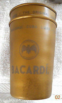 10 Bacardi Cuba metal  8 oz. Drinking Glasses.New