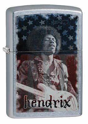 Zippo Windproof Lighter With Jimi Hendrix, Guitare & US Flag, 29175, New In Box