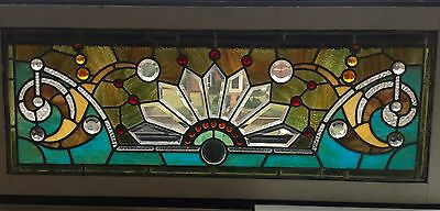 stained and beveled stained glass window